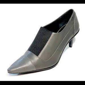 Women's Calvin Kleun Slip-On Booty heels.